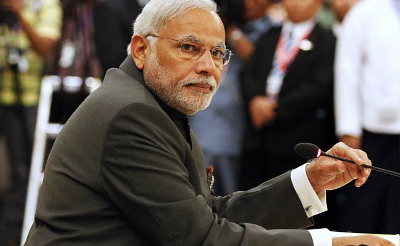 Prime Minister Narendra Modi announces a mobile app development competition.